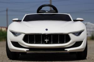 Masinuta electrica Maserati Alfieri CU ROTI MOI 12V 2x35W #Alb1