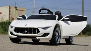Masinuta electrica Maserati Alfieri CU ROTI MOI 12V 2x35W #Alb2