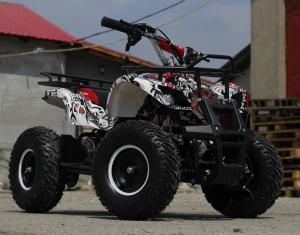 Mini ATV electric pentru copii NITRO Torino Quad 1000W 48V #Alb2