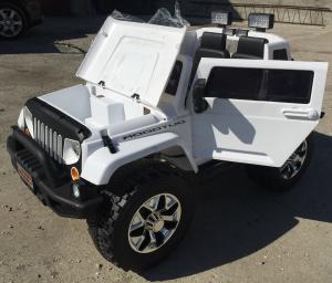 Masinuta electrica copii 2-7 ani Jeep Outdoor, alb [2]