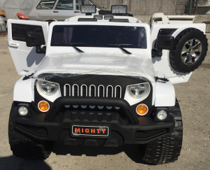 Masinuta electrica copii 2-7 ani Jeep Outdoor, alb [1]