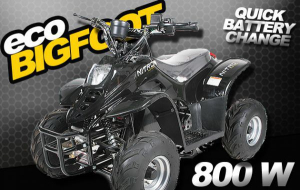 ATV electric ECO Bigfoot 800W 36V cu Baterie Detasabila #Negru2