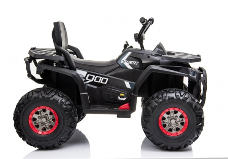 ATV electric pentru copii BJ607 12V 90W cu Scaun Tapitat #Negru [7]