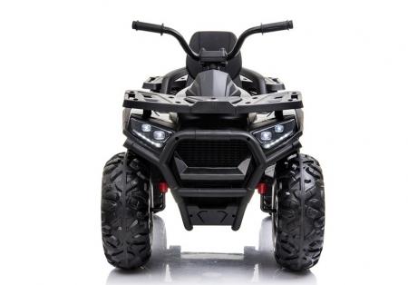ATV electric pentru copii BJ607 12V 90W cu Scaun Tapitat #Negru [1]