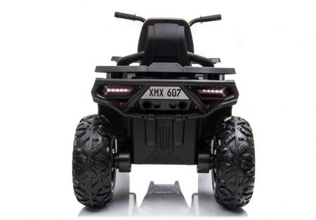 ATV electric pentru copii BJ607 12V 90W cu Scaun Tapitat #Negru [5]