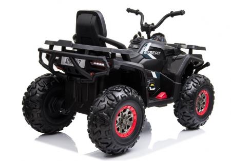 ATV electric pentru copii BJ607 12V 90W cu Scaun Tapitat #Negru [6]