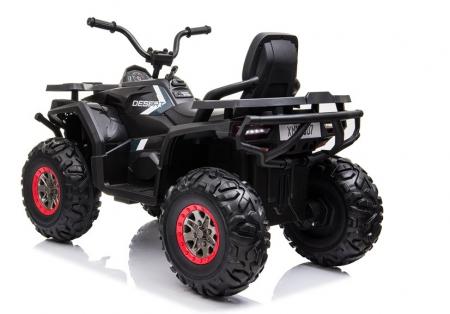 ATV electric pentru copii BJ607 12V 90W cu Scaun Tapitat #Negru [4]