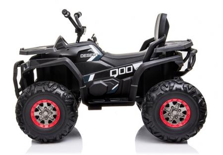 ATV electric pentru copii BJ607 12V 90W cu Scaun Tapitat #Negru [3]
