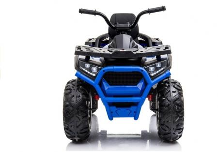 ATV electric pentru copii BJ607 12V 90W cu Scaun Tapitat #Albastru [1]