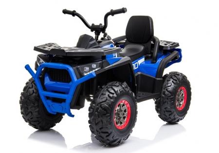 ATV electric pentru copii BJ607 12V 90W cu Scaun Tapitat #Albastru [3]