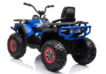 ATV electric pentru copii BJ607 12V 90W cu Scaun Tapitat #Albastru [5]