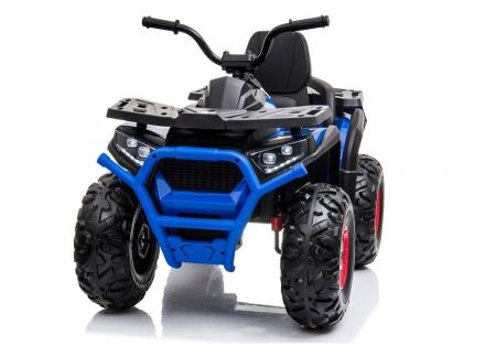 ATV electric pentru copii BJ607 12V 90W cu Scaun Tapitat #Albastru [2]