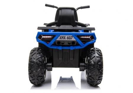 ATV electric pentru copii BJ607 12V 90W cu Scaun Tapitat #Albastru [6]