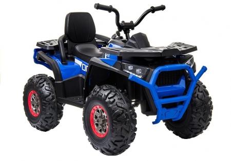 ATV electric pentru copii BJ607 12V 90W cu Scaun Tapitat #Albastru [0]