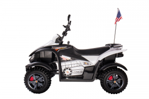 ATV Electric pentru copii Dooma BJ268A 90W 12V cu ROTI MOI #Alb1