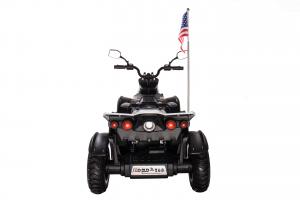 ATV Electric pentru copii Dooma BJ268A 90W 12V cu ROTI MOI #Alb3