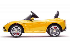 Masinuta electrica Ferrari F12 1x 25W STANDARD 12V #Galben4