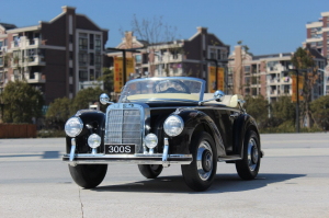 Mercedes 300S OldTimer, negru pentru copii 2-6 ani [4]