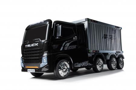 Camion electrica cu semiremorca BJJ2011 4x4 140W PREMIUM #Negru0