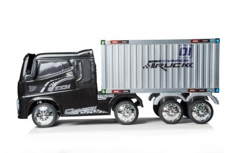 Camion electrica cu semiremorca BJJ2011 4x4 140W PREMIUM #Negru6