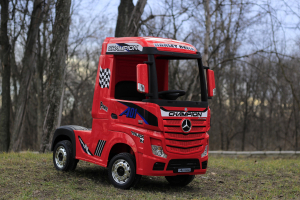 Camion electric Mercedes ACTROS 4x4 180W 12V PREMIUM #Rosu1