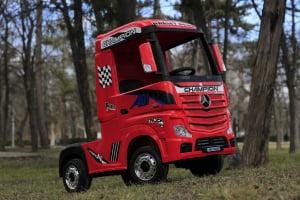 Camion electric Mercedes ACTROS 4x4 180W 12V PREMIUM #Rosu4