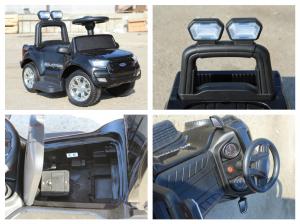 Carucior electric pentru copii 3 in 1 Ford Ranger STANDARD #Negru9