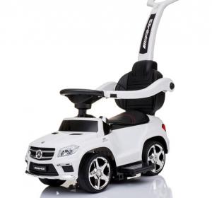 Masinuta cu maner pentru copii 3 in 1 Mercedes GL63 AMG PREMIUM #Alb0
