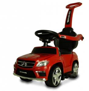 Masinuta cu maner pentru copii 3 in 1 Mercedes GL63 AMG PREMIUM #Rosu0