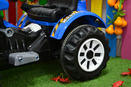 Excavator electric pentru copii 2-6 ani, albastru, 90W, 12V [8]