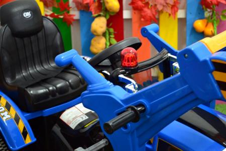 Excavator electric pentru copii 2-6 ani, albastru, 90W, 12V [9]