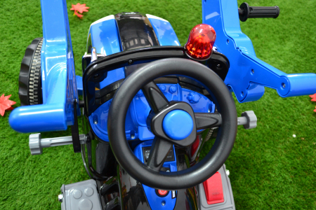 Excavator electric pentru copii 2-6 ani, albastru, 90W, 12V [7]