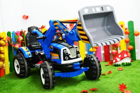 Excavator electric pentru copii 2-6 ani, albastru, 90W, 12V [2]