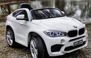 Masinuta electrica BMW X6M 2x35W 12V PREMIUM #Alb2