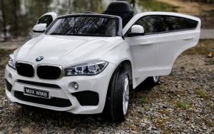 Masinuta electrica BMW X6M 2x35W 12V PREMIUM #Alb3