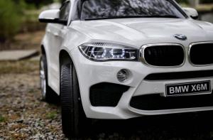 Masinuta electrica BMW X6M 2x35W 12V PREMIUM #Alb4