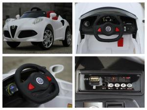 Masinuta electrica Alfa Romeo 4C 2x 15W STANDARD #Alb7