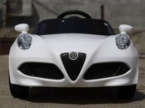 Masinuta electrica Alfa Romeo 4C 2x 15W STANDARD #Alb1