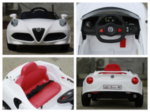 Masinuta electrica Alfa Romeo 4C 2x 15W STANDARD #Alb6
