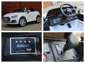 Masinuta electrica Audi S5 Cabriolet 2x35W CU ROTI MOI 12V #Alb7
