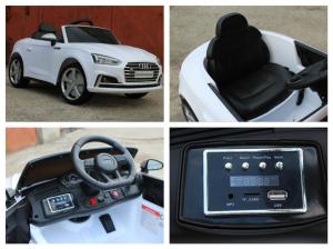 Masinuta electrica Audi S5 Cabriolet 2x35W CU ROTI MOI 12V #Alb9