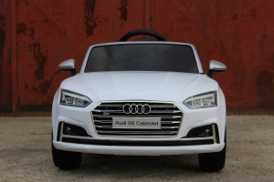 Masinuta electrica Audi S5 Cabriolet 2x35W CU ROTI MOI 12V #Alb10