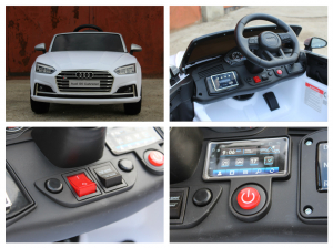 Masinuta electrica Audi S5 Cabriolet 2x35W CU ROTI MOI 12V #Alb8