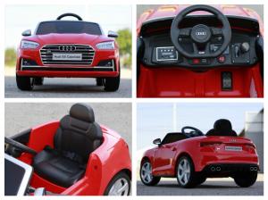 Masinuta electrica Audi S5 Cabriolet 2x35W CU ROTI MOI 12V #Rosu8