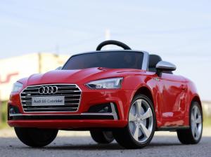 Masinuta electrica Audi S5 Cabriolet 2x35W CU ROTI MOI 12V #Rosu2