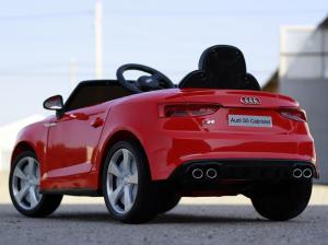 Masinuta electrica Audi S5 Cabriolet 2x35W CU ROTI MOI 12V #Rosu3