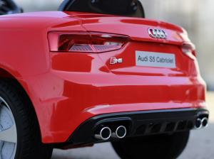 Masinuta electrica Audi S5 Cabriolet 2x35W CU ROTI MOI 12V #Rosu4