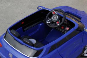 Masinuta electrica Fiat FCC4 2x25W 12V STANDARD #Albastru6