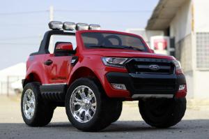 Masinuta electrica Ford Ranger 4x4 PREMIUM 4x35W #Rosu3