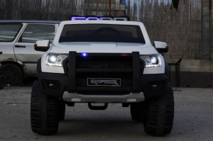 Masinuta electrica Ford Ranger F650 POLICE STANDARD 2x 35W 12V #Alb1